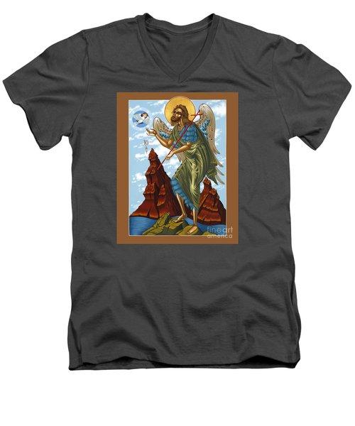 St. John The Forerunner Also The Baptist 082 Men's V-Neck T-Shirt