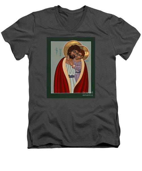 St. Joseph And The Holy Child 239 Men's V-Neck T-Shirt