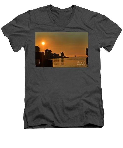 St Joseph Lighthouse Sunset Men's V-Neck T-Shirt