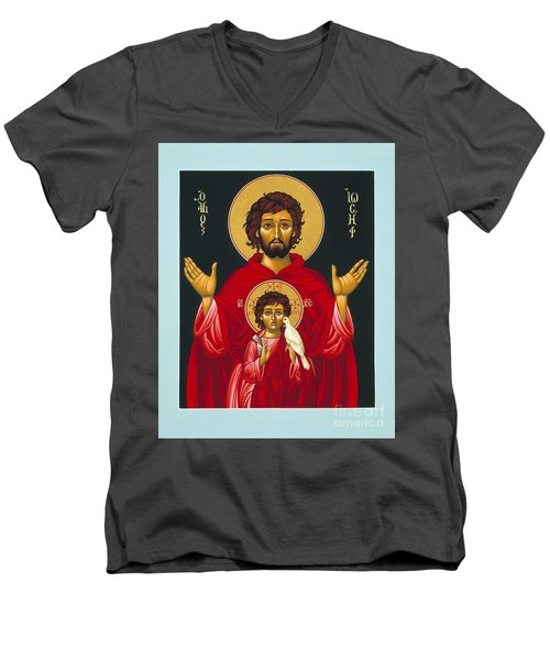 St. Joseph Shadow Of The Father 039 Men's V-Neck T-Shirt
