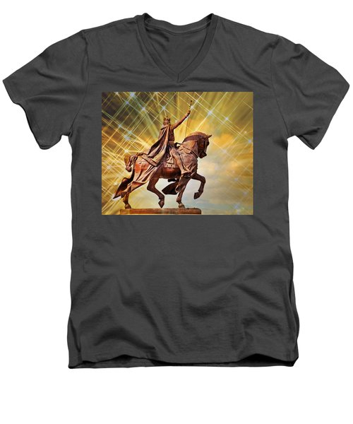 Men's V-Neck T-Shirt featuring the photograph St. Louis 5 by Marty Koch