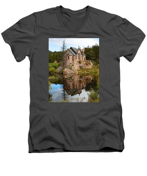 Men's V-Neck T-Shirt featuring the photograph St. Malo by Jim Garrison