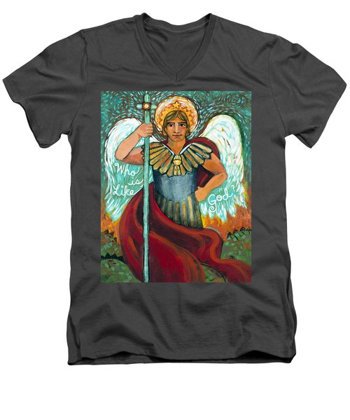St. Michael The Archangel Men's V-Neck T-Shirt