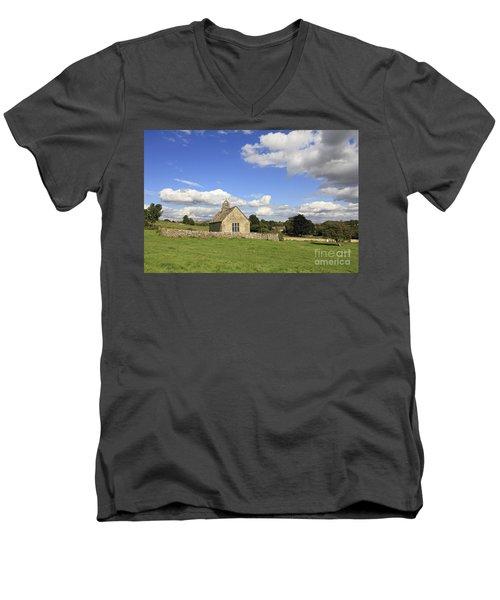 St Oswalds Chapel Oxfordshire Men's V-Neck T-Shirt