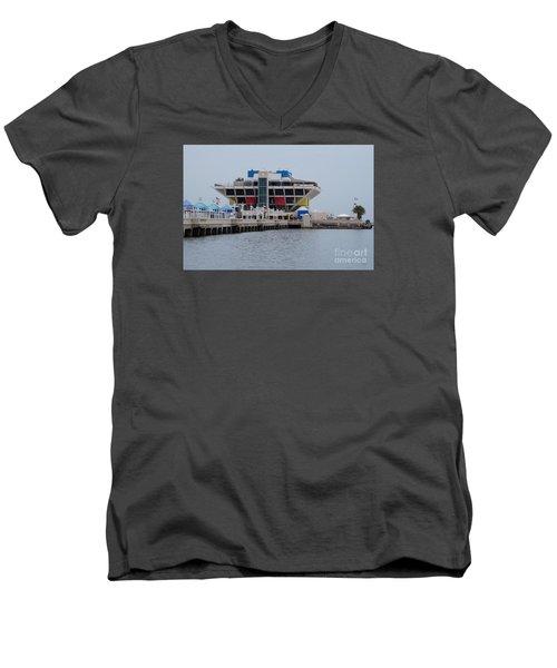 St. Pete Pier Men's V-Neck T-Shirt