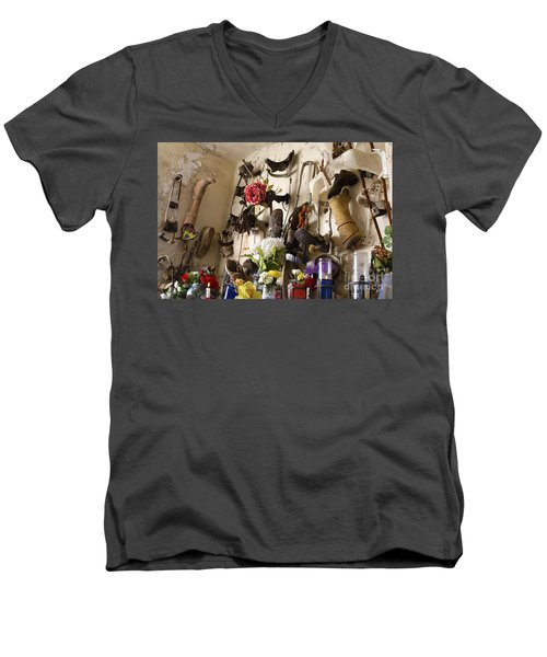 New Orleans St Roch Cemetery Men's V-Neck T-Shirt by Luana K Perez