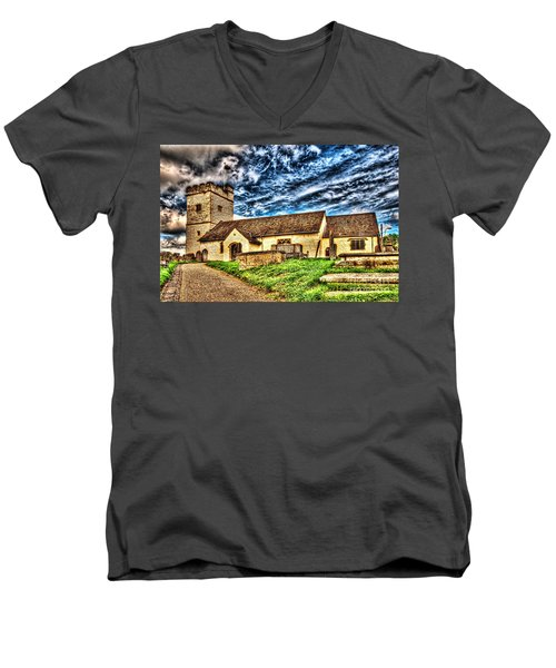 St Sannans Church Bedwellty Men's V-Neck T-Shirt