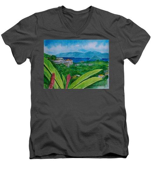 St. Thomas Virgin Islands Men's V-Neck T-Shirt by Frank Hunter