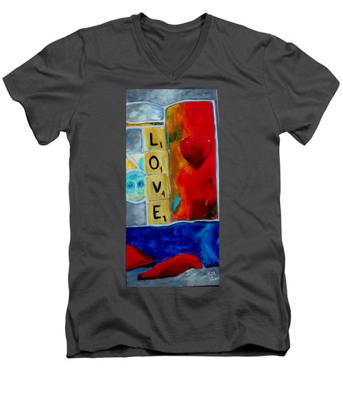 Stained Glass Love Men's V-Neck T-Shirt