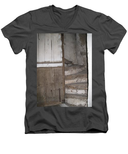 Men's V-Neck T-Shirt featuring the photograph Staircase by HEVi FineArt