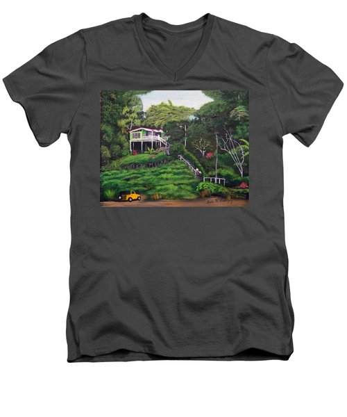 Stairway To Heaven Men's V-Neck T-Shirt by Luis F Rodriguez