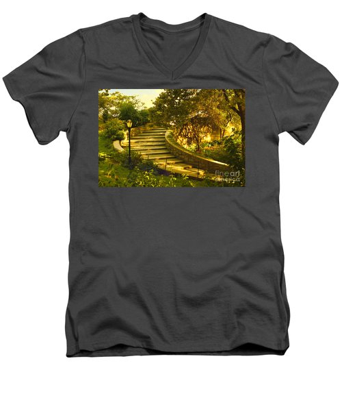Stairway To Nirvana Men's V-Neck T-Shirt by Madeline Ellis