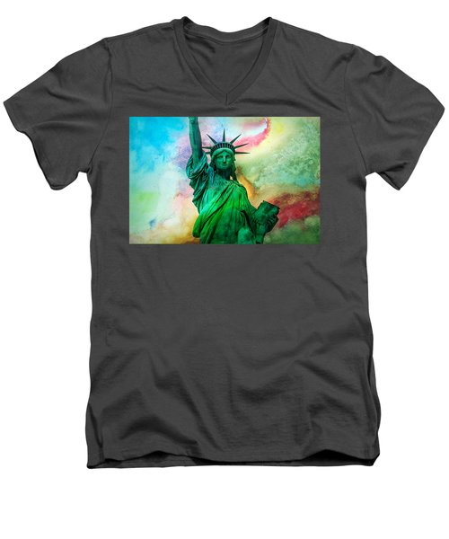 Stand Up For Your Dreams Men's V-Neck T-Shirt by Az Jackson