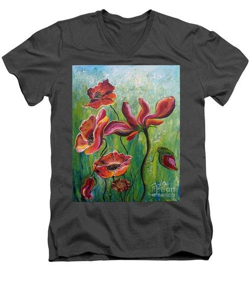 Standing High Men's V-Neck T-Shirt