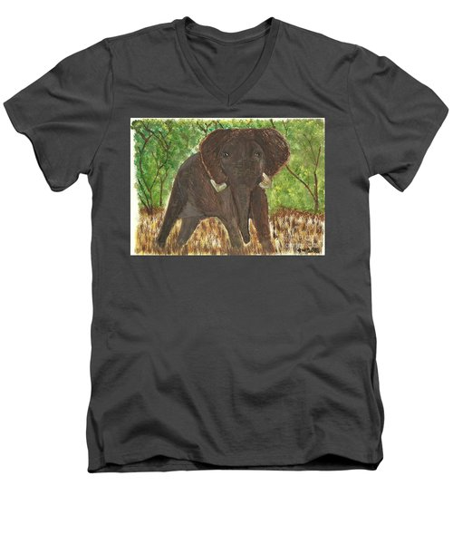 Standing My Ground Men's V-Neck T-Shirt by Tracey Williams