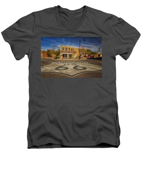 Standing On The Corner In Winslow Arizona Dsc08854 Men's V-Neck T-Shirt by Greg Kluempers