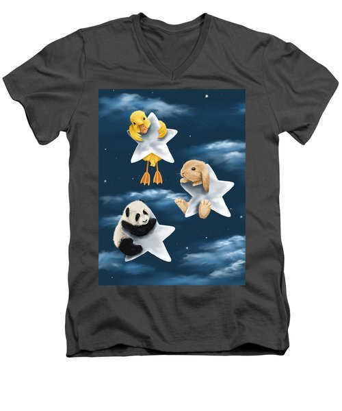 Star Games Men's V-Neck T-Shirt by Veronica Minozzi