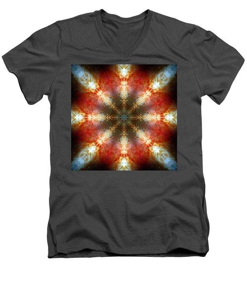 Starburst Galaxy M82 II Men's V-Neck T-Shirt