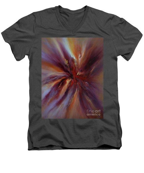 Starburst Men's V-Neck T-Shirt