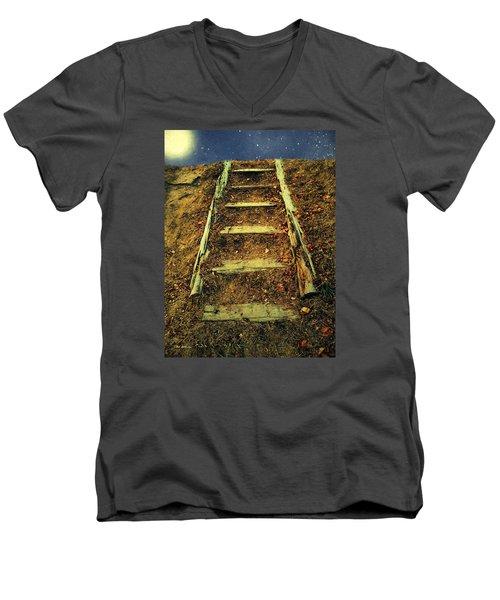 Starclimb Men's V-Neck T-Shirt by RC deWinter