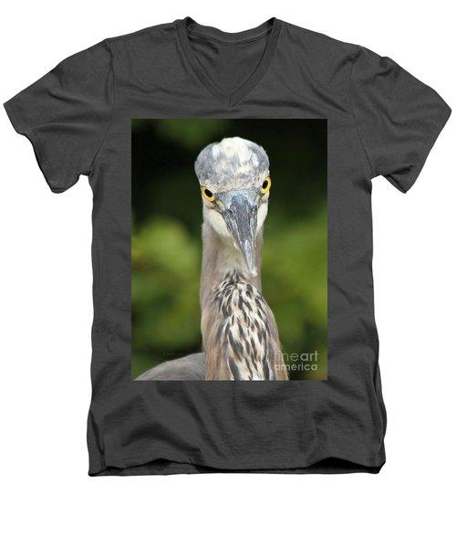Staredown Men's V-Neck T-Shirt by Heather King