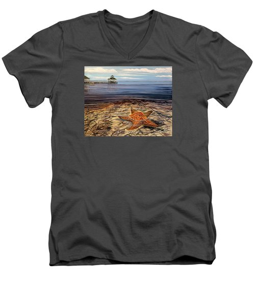 Starfish Drifting Men's V-Neck T-Shirt