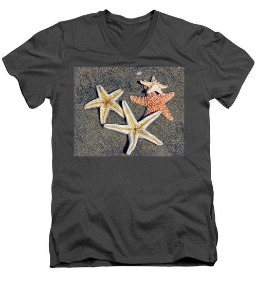 Starfish Men's V-Neck T-Shirt by Tammy Espino