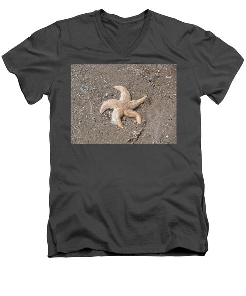 Men's V-Neck T-Shirt featuring the photograph Starfish by Tiffany Erdman