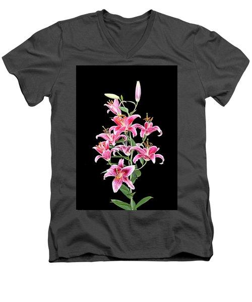 Stargazers Men's V-Neck T-Shirt by Kristin Elmquist