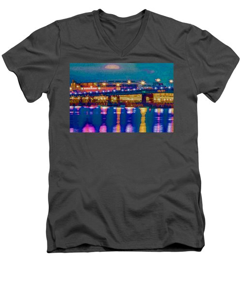 Starry Night At Nationals Park Men's V-Neck T-Shirt