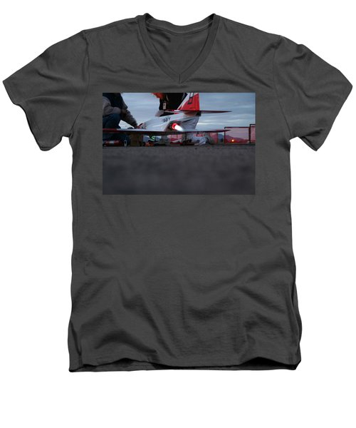 Men's V-Neck T-Shirt featuring the photograph Startup by David S Reynolds