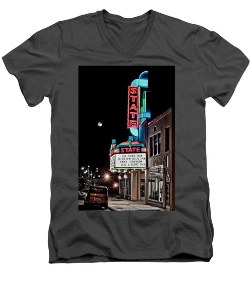 State Theater Men's V-Neck T-Shirt by Jim Thompson