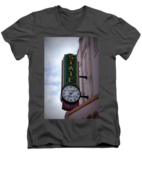State Theatre Sign Men's V-Neck T-Shirt by Laurie Perry
