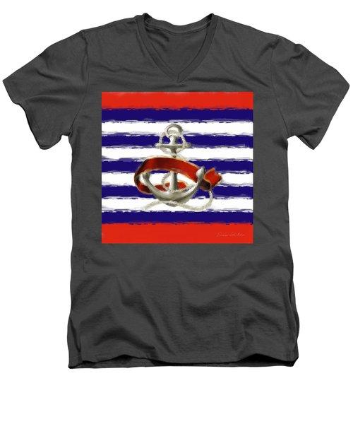 Stay Anchored Men's V-Neck T-Shirt