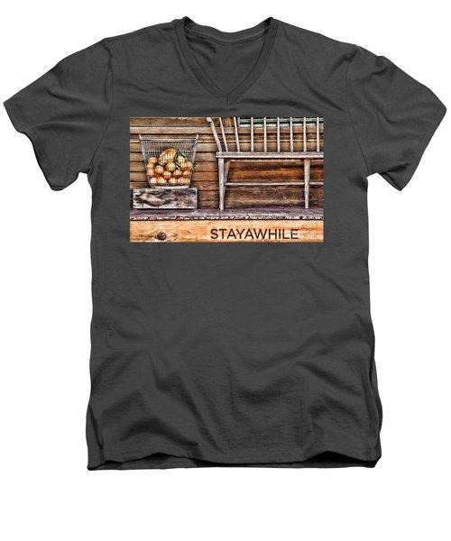 Stayawhile Men's V-Neck T-Shirt