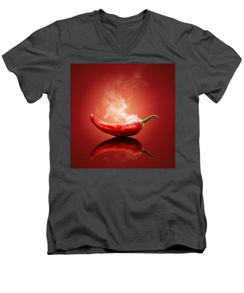 Steaming Hot Chilli Men's V-Neck T-Shirt