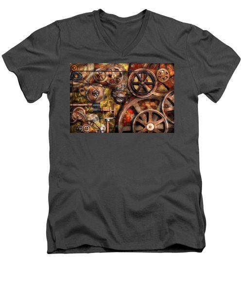 Steampunk - Gears - Inner Workings Men's V-Neck T-Shirt
