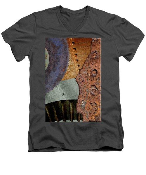 Steel Collage Men's V-Neck T-Shirt