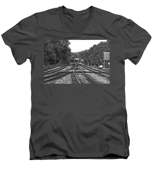 Steel Rail Intersections.   Point Of Rocks Md Men's V-Neck T-Shirt