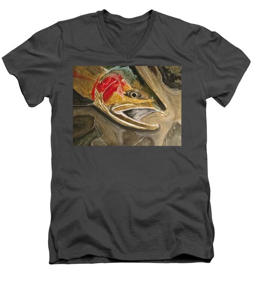 Steelhead Buck Men's V-Neck T-Shirt