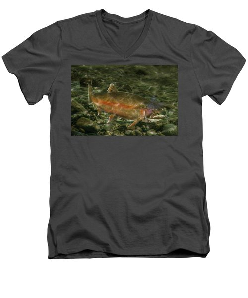 Steelhead Trout Spawning Men's V-Neck T-Shirt