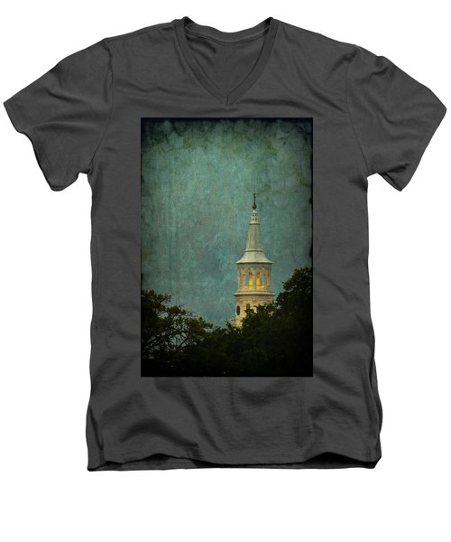 Steeple In A Storm Men's V-Neck T-Shirt