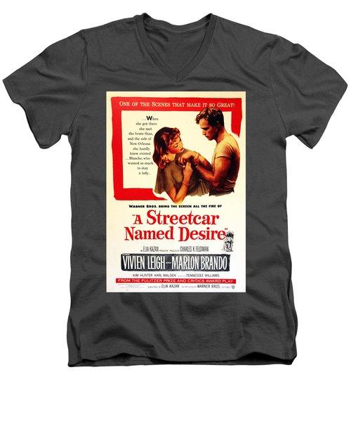 Stellaaaaa - A Streetcar Named Desire Men's V-Neck T-Shirt by Debbie Oppermann