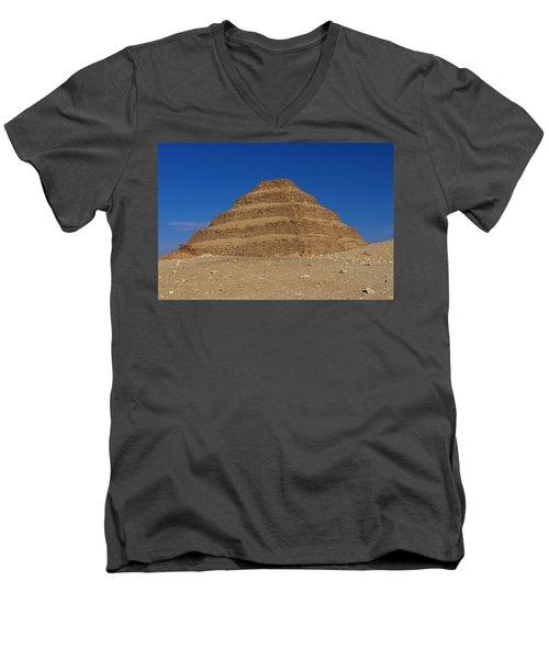 Step Pyramid Of King Djoser At Saqqara  Men's V-Neck T-Shirt