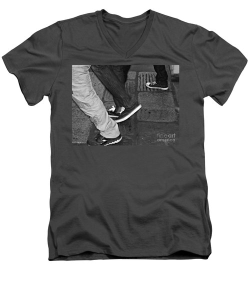 Stepping Out Men's V-Neck T-Shirt by Clare Bevan