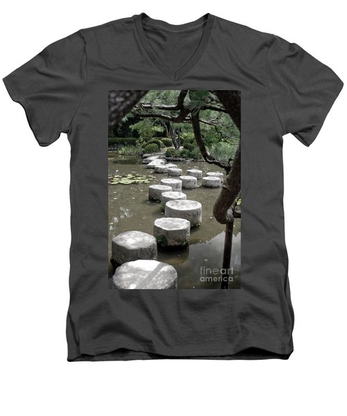 Stepping Stone Kyoto Japan Men's V-Neck T-Shirt