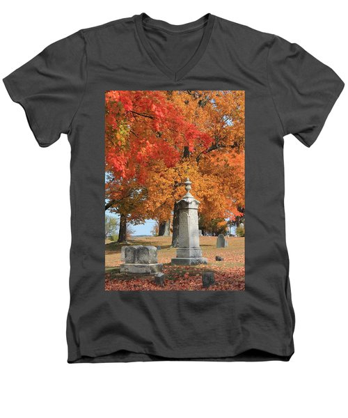 Sterling Ma Burial Ground Men's V-Neck T-Shirt