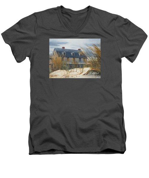 Stevens House Men's V-Neck T-Shirt by Barbara Barber