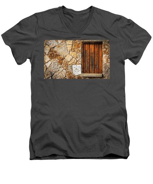 Sticks And Stone Men's V-Neck T-Shirt by Melinda Ledsome