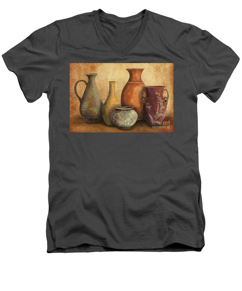 Still Life-c Men's V-Neck T-Shirt by Jean Plout